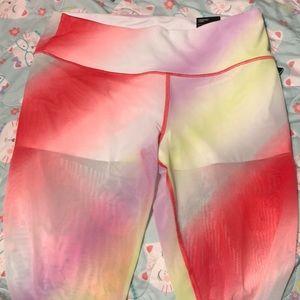 fda84399170d3 Victoria's Secret Pants - NWT vs sport Cali haze rainbow sheer tights XL
